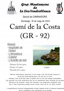 Cartell Quinta etapa GR-92