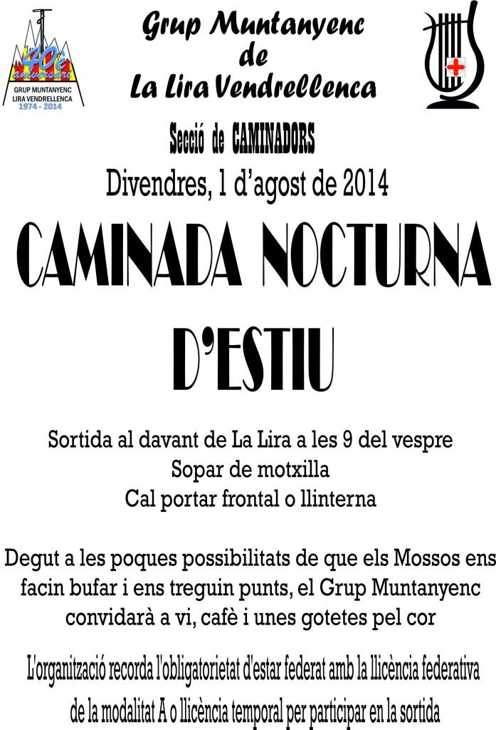 2014_08_01_Cartell _Caminada_Nocturna_Estiu