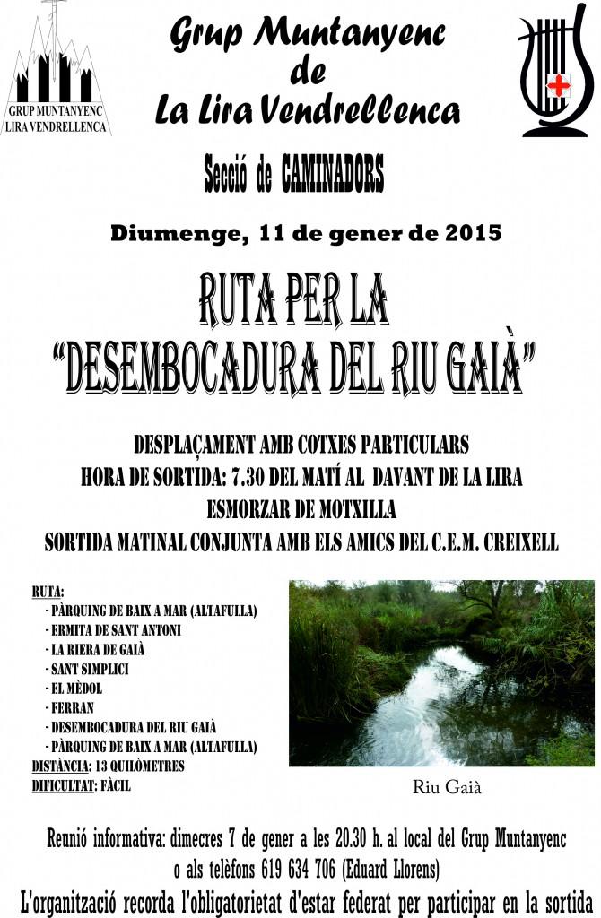 2015_01_11_Cartell_Sortida_Desembocadura_Riu_Gaia