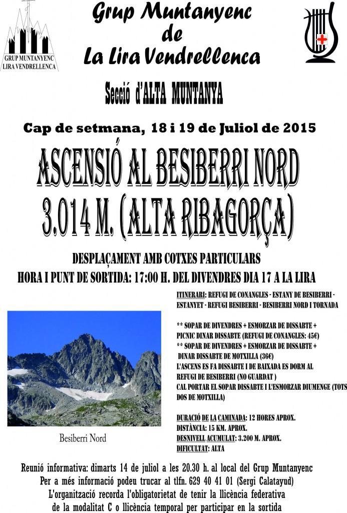 Cartell Ascensió al Besiberri Nord