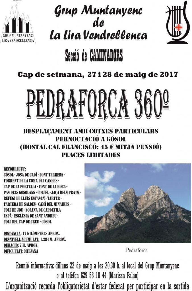 Cartell Sortida Pedraforca 360º